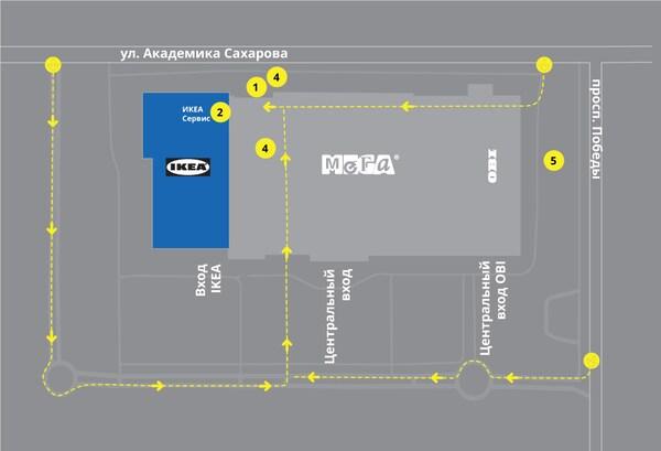Карта сортировочных станций