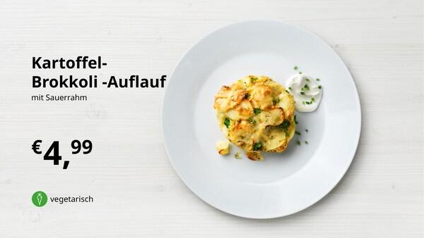 Kartoffel-Brokkoli-Auflauf mit Sauerrahm