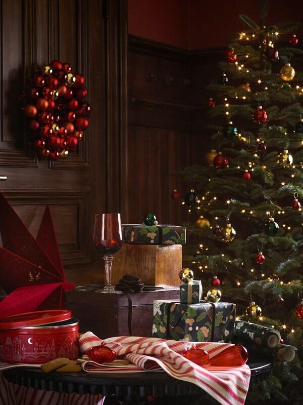 kerstboom tafereel