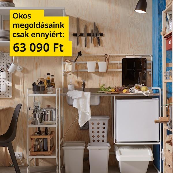 Készletben a konyhád - 63 090 Ft.