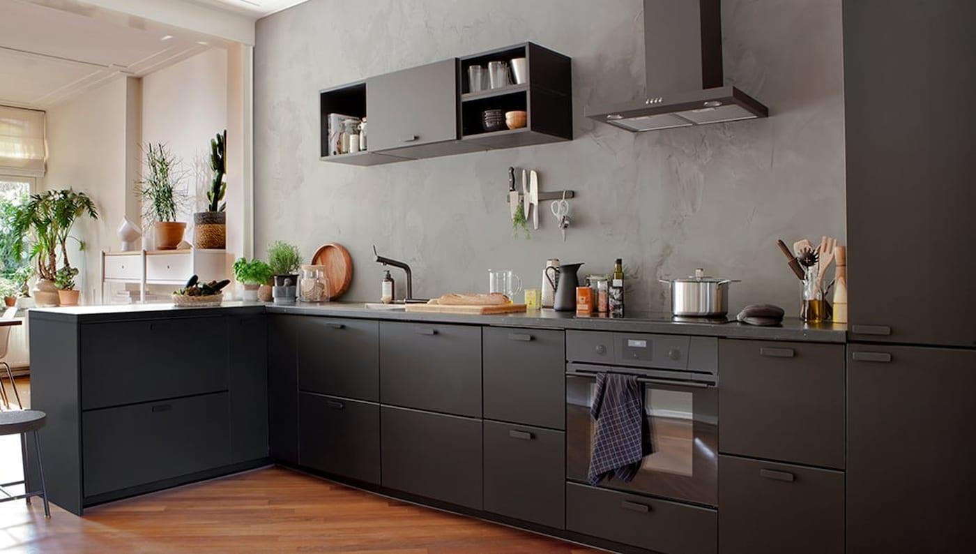 Keuken-opruimsysteem-zwart-IKEA wooninspiratie
