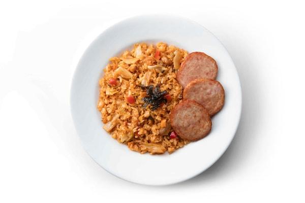 Kimchi Fried Rice with Ham