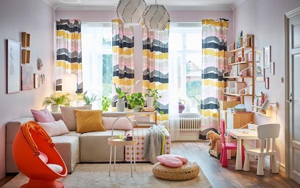Kinderhoek in de woonkamer - IKEA