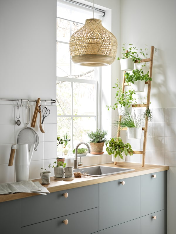 A harmonious grey-green BODARP kitchen - IKEA CA