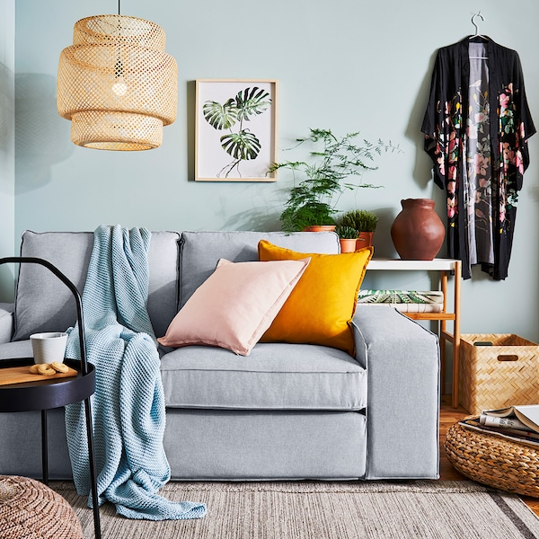 KIVIK divano a 2 posti, Orrsta grigio chiaro
