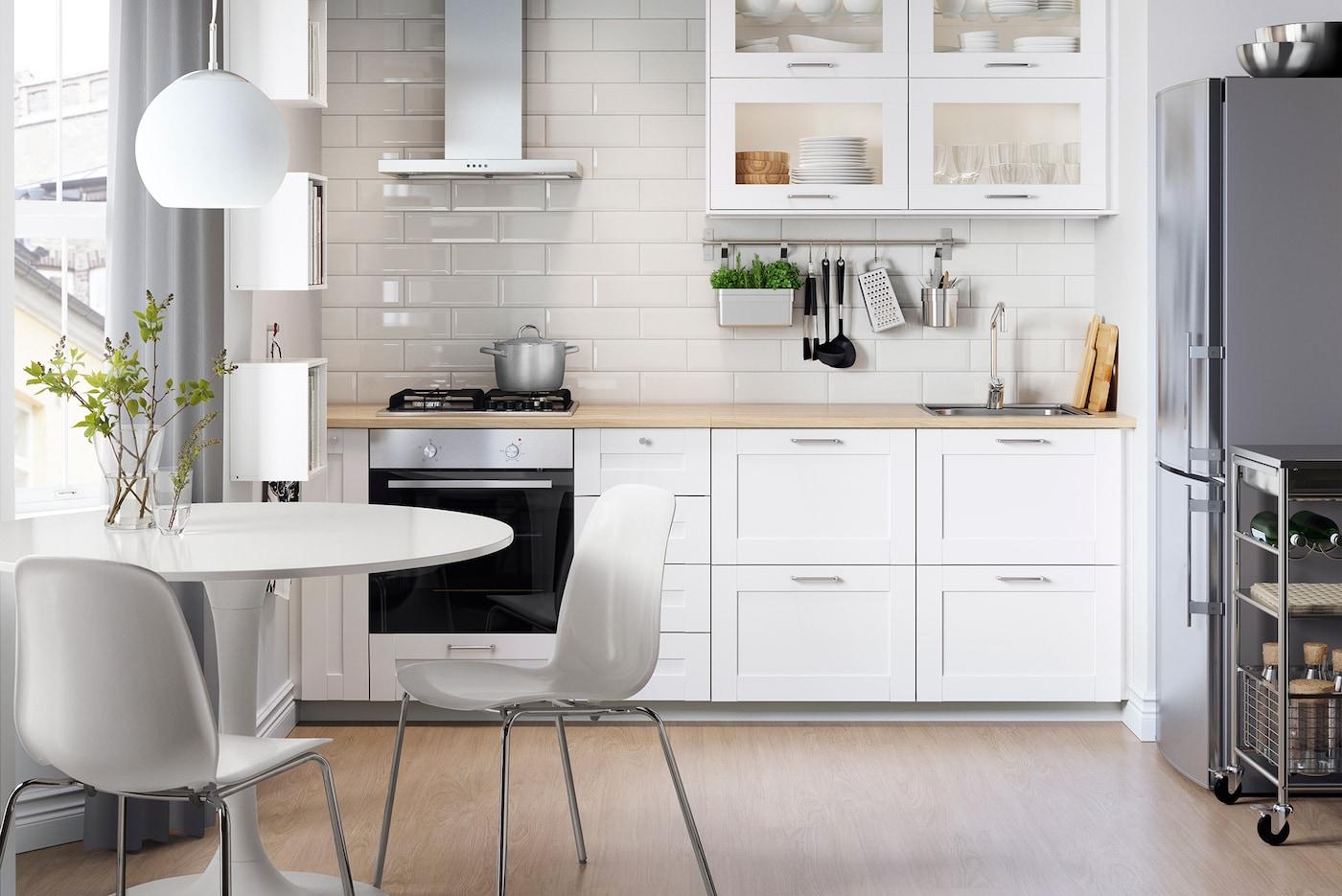 Kleine küche einrichten platz optimal nutzen ikea