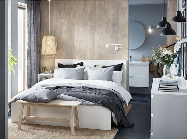 Luxuriöses Schlafzimmer Auf Kleinem Raum