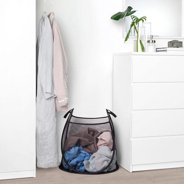 KNALLA bag 47 l black/white