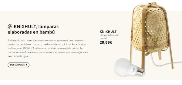 KNIXHULT Lámpara de mesa, bambú