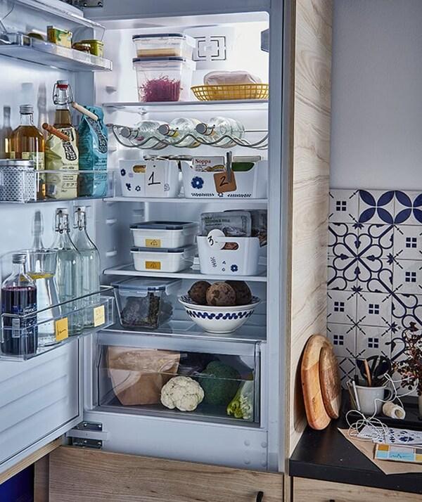 koelkast-eten opbergen- duurzaam-IKEA wooninspiratie