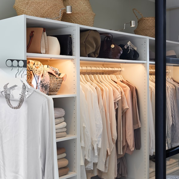 KOMPLEMENT/คอมเพลียเมนท์ ที่แขวนเสื้อหน้าตู้เสื้อผ้า, ขาว