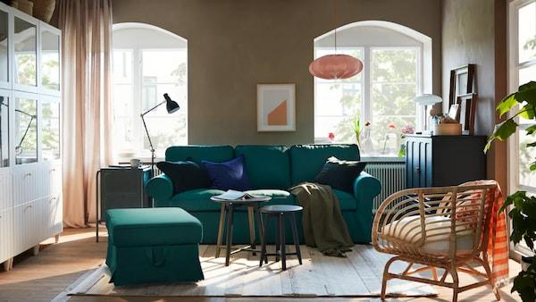 Kompletní návrh obývacího pokoje.