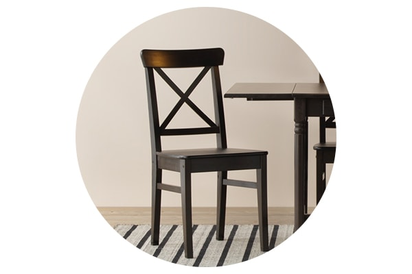 Коричнево-черный деревянный стул ИНГОЛЬФ