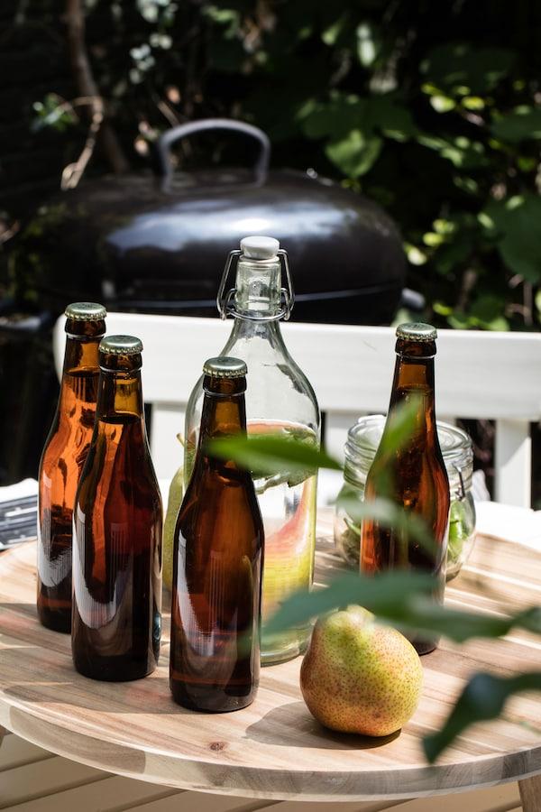 KORKEN  Fles met beugelsluiting Helder glas
