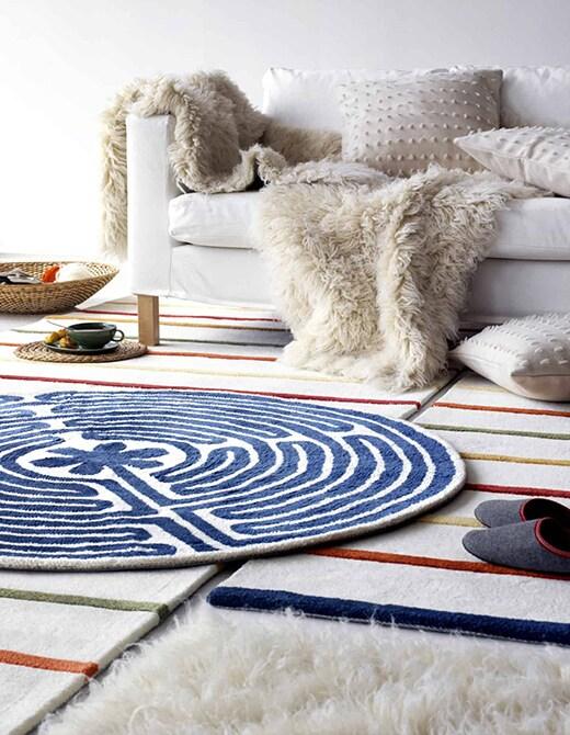 ковры в скандинавском интерьере