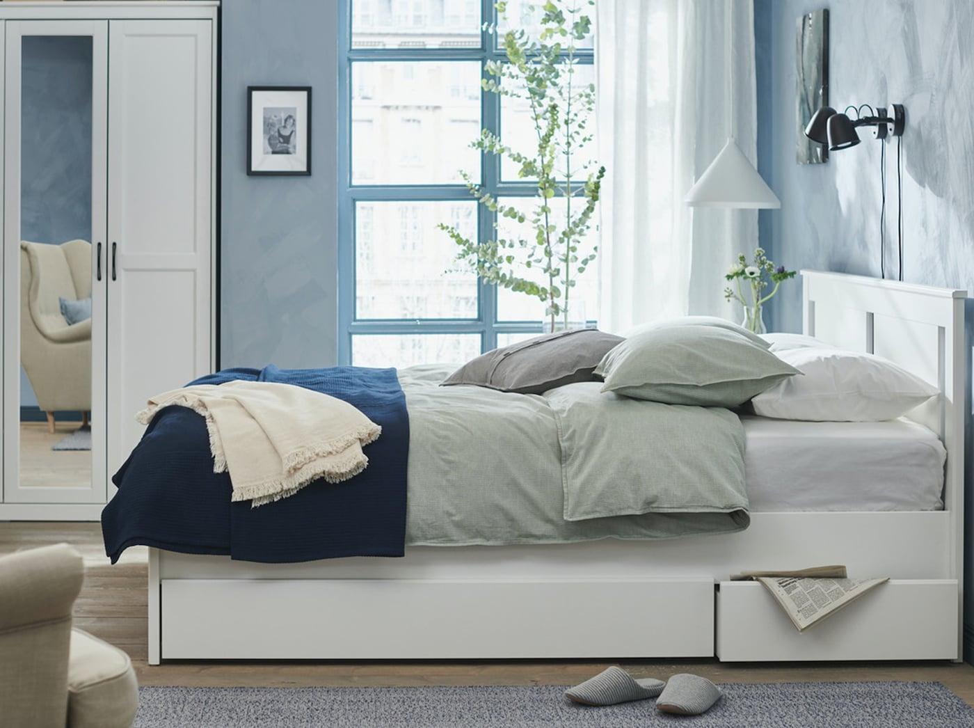 Кровать СОНГЕСАНД с ящиками для хранения