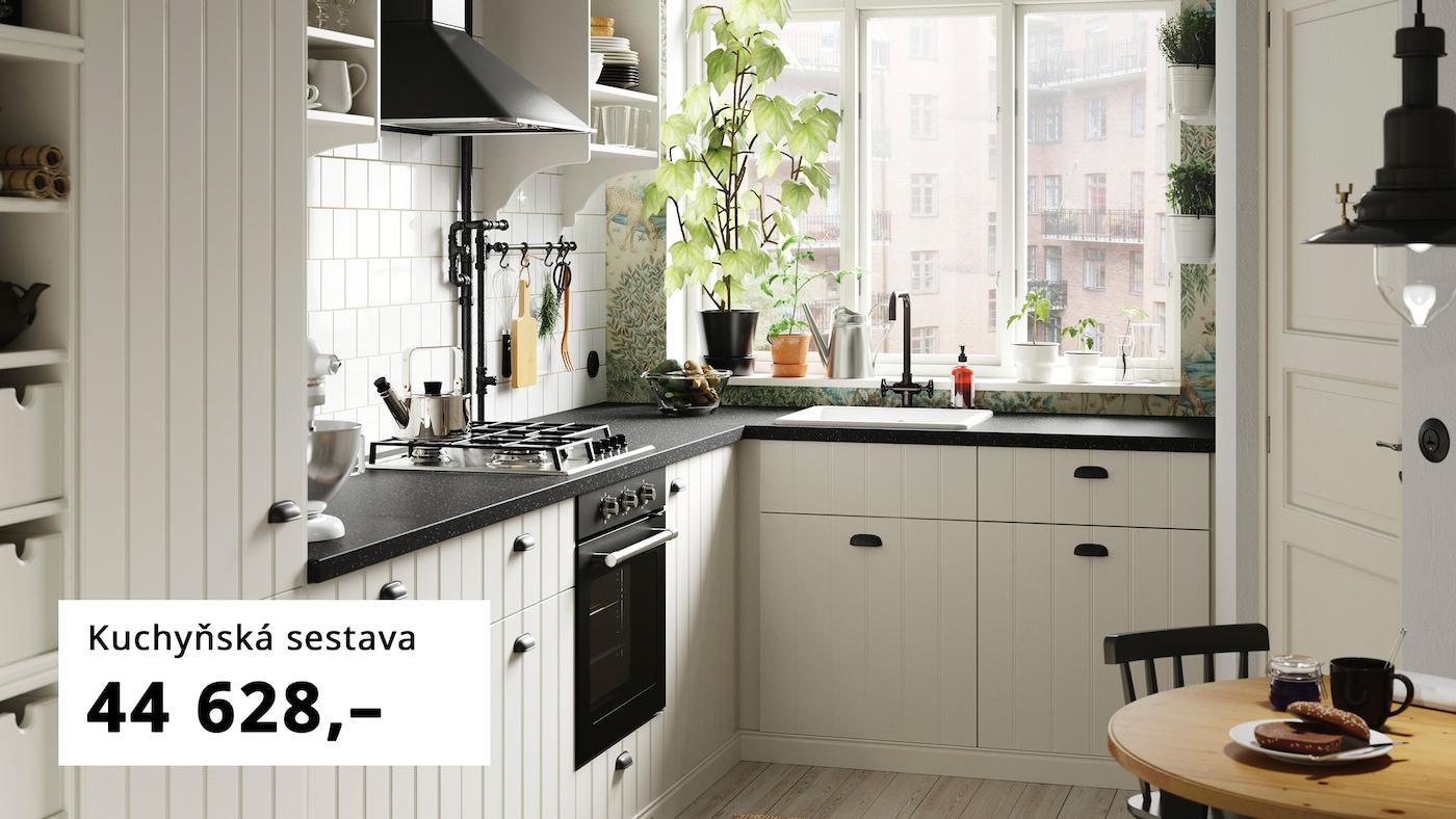 Kuchyňka s dvířky HITTARP, TORNVIKEN úložné díly