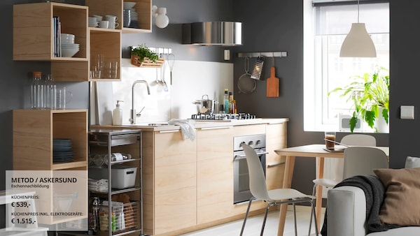 Nordisch klarer Stil in der Küche - IKEA - IKEA