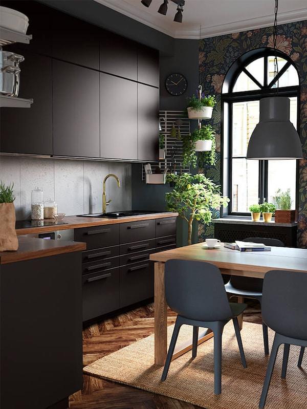KUNGSBACKA anthracite kitchen