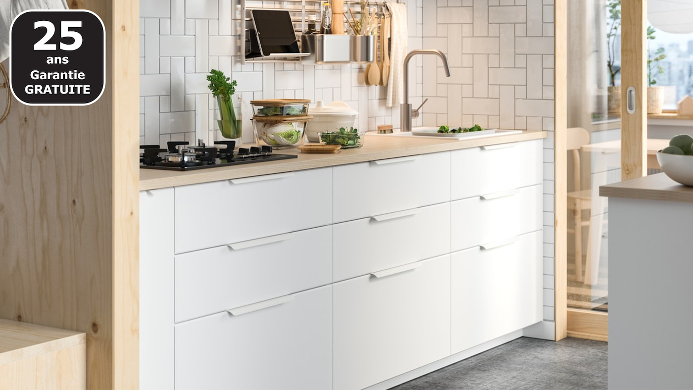 Cuisines METOD finition KUNGSBACKA blanc - IKEA - IKEA