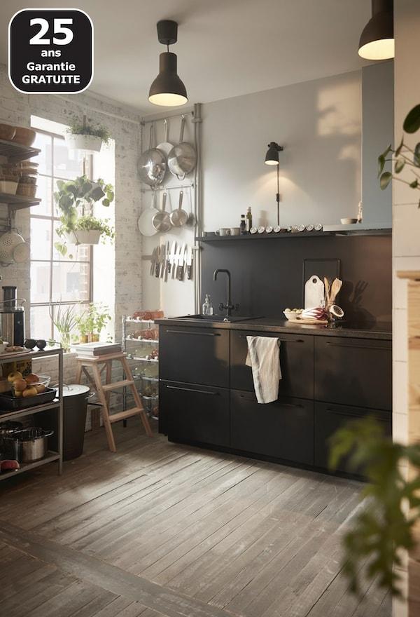 KUNGSBACKA cuisine noire IKEA