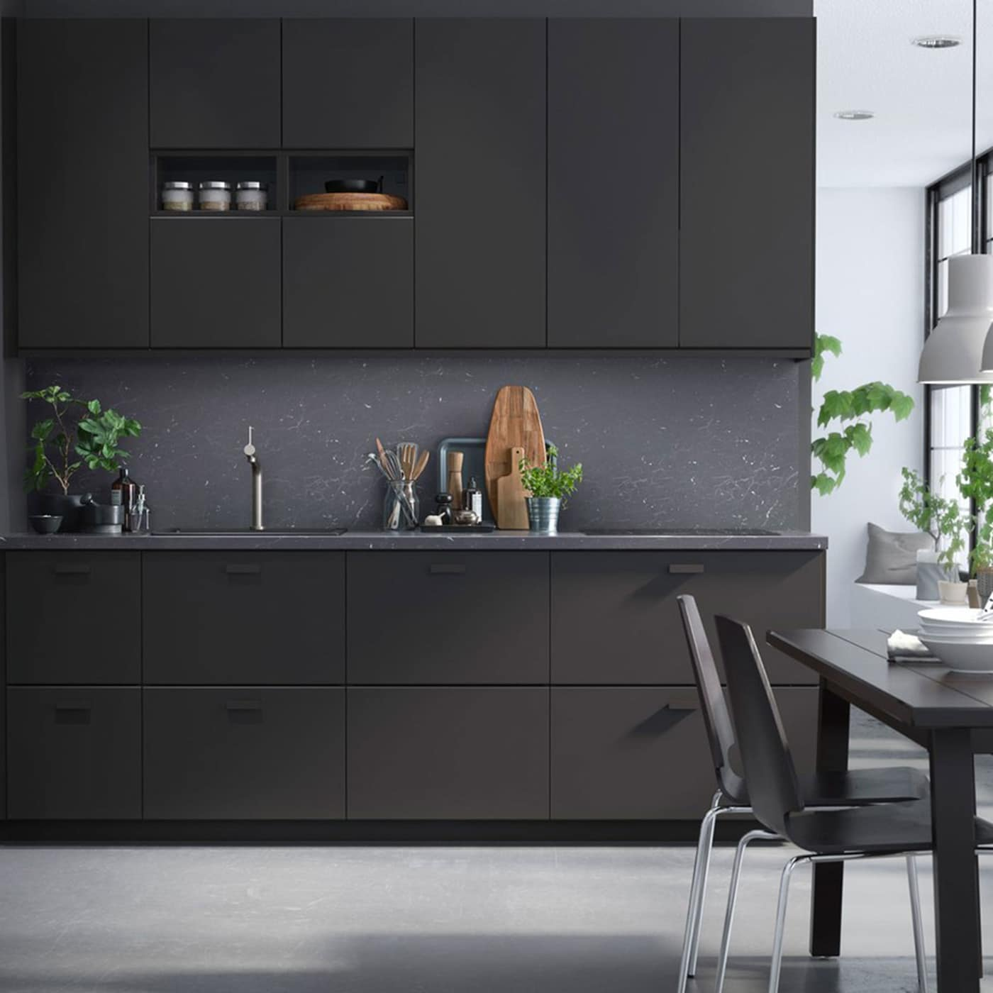 Sleek And Sustainable With A Dark Expression Ikea