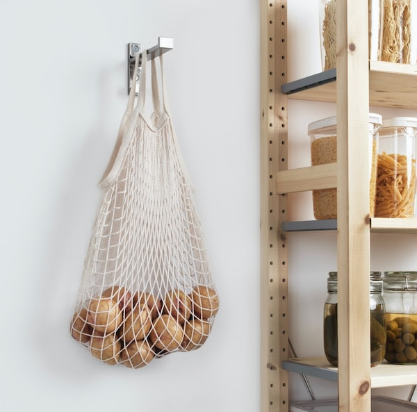 KUNGSFORS net bag hanging up holding potatoes