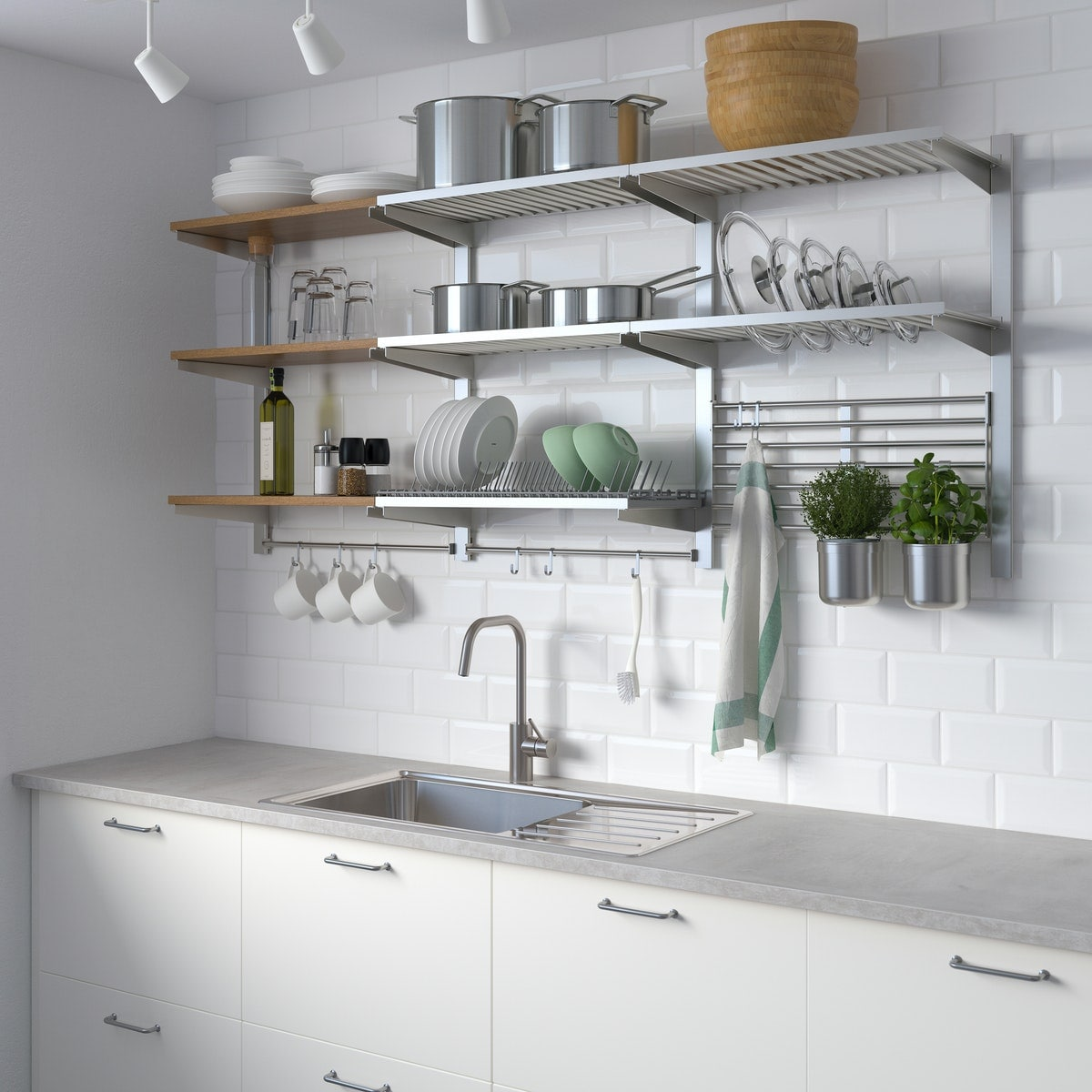 KUNGSFORS series displayed in a kitchen