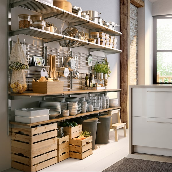 KUNGSFORS suspension rail with shelf