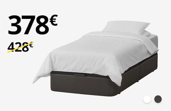 KVITSÖY kanapea + HÖVAG lastaira (90cm)