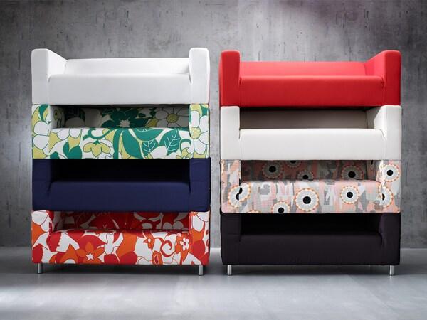 La fel ca multe dintre canapelele noastre, IKEA KLIPPAN are huse suplimentare, astfel că, atunci când te plictisești de un model, nu este nevoie să cumperi o canapea nouă – schimbă doar husa. În felul acesta, produci mai puține deșeuri voluminoase și obții un aspect complet nou.