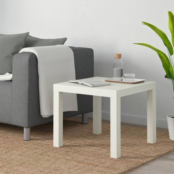 LACK Konferenčný stolík, biela, 55x55 cm.