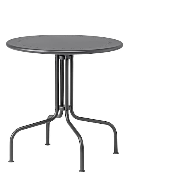 LÄCKÖ Stůl, venkovní, šedá, 70 cm.