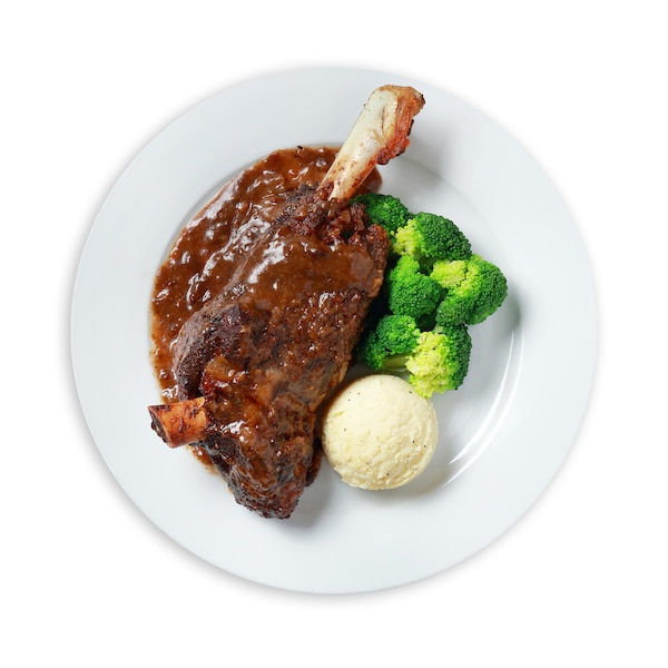 Lamb Shank with Mashed Potato & Broccoli