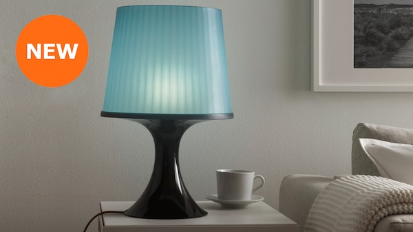 LAMPAN, table lamp, dark blue