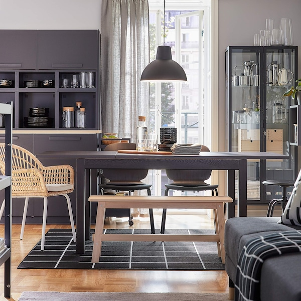 LANEBERG and KARLJAN dining table and chairs
