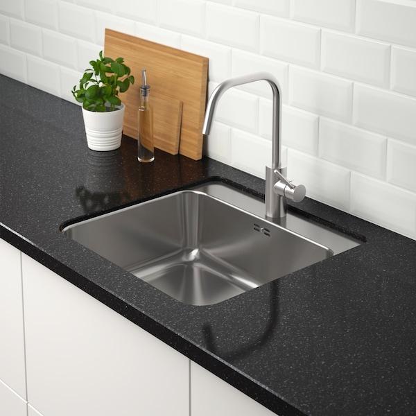 LÅNGUDDEN Spüle in die die Küchenarbeitsplatte, maßgefertigt eingearbeitet
