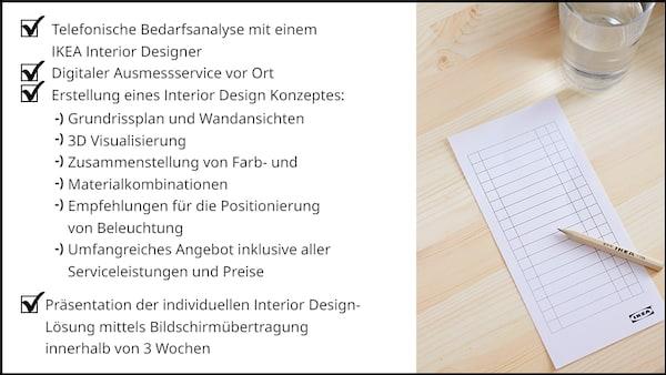 Leistungsbeschreibung Interior Design Service