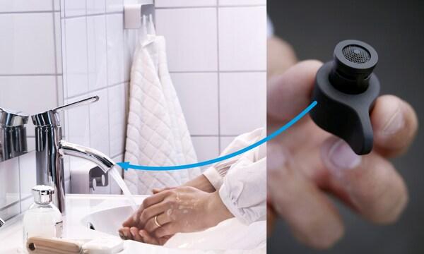 L'embout MISTELN est abordable et peut aisément être fixé sur tous les robinets standards.