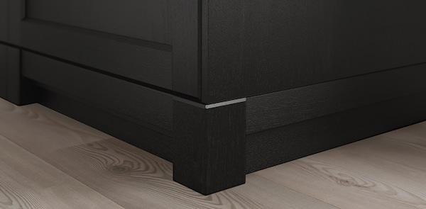 LERHYTTAN black kitchen deco strip and cover panel