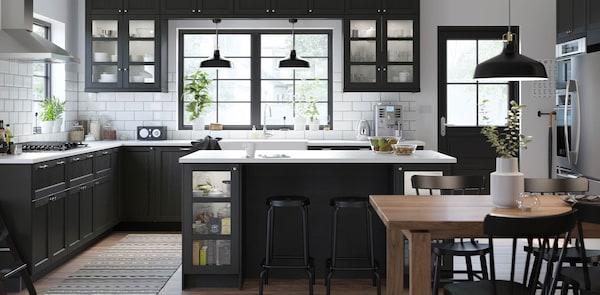 LERHYTTAN black kitchen fronts