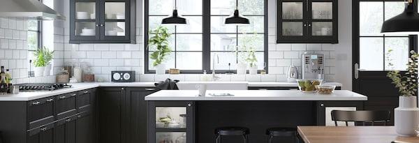 LERHYTTAN black kitchen link to kitchen gallery
