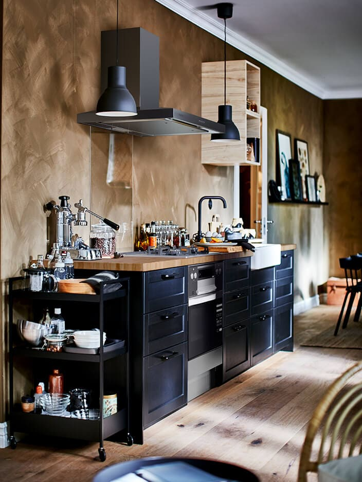 LERHYTTAN black stained kitchen