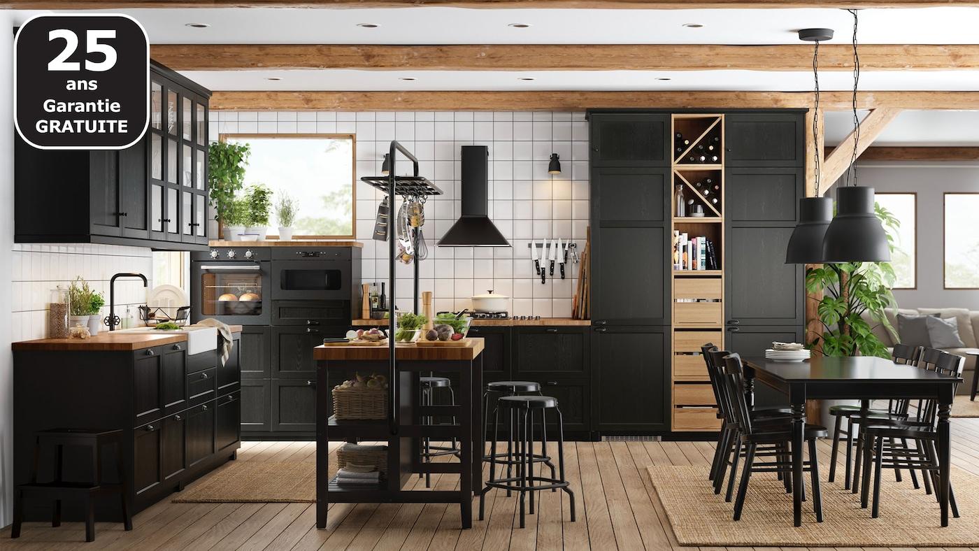 Page Finition Cuisine Lerhyttan Noir Ikea