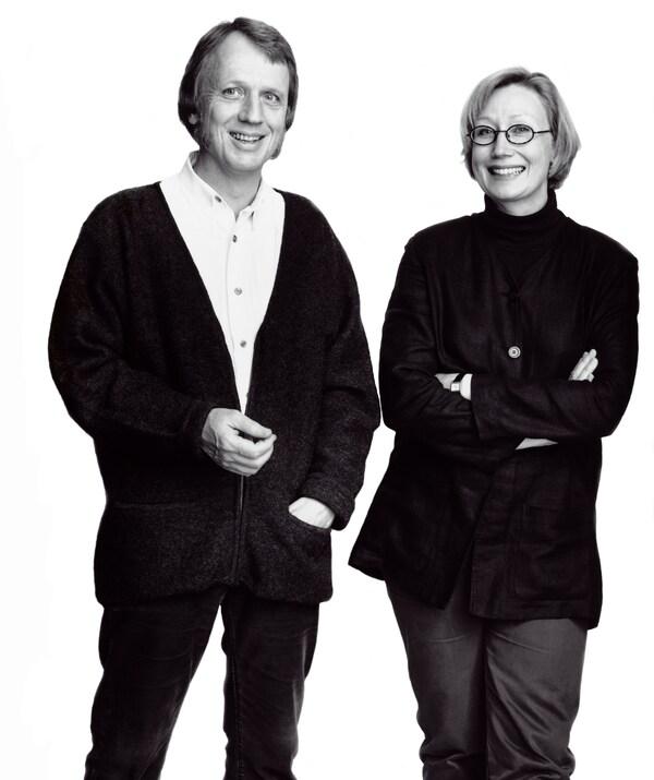 Les designers IKEA Marianne Hagberg et Knut Hagberg.