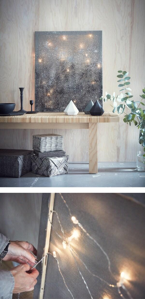 Lichterketten Lassen Sich Mit Robustem Klebeband Oder Nageln An Der Wand Fixieren