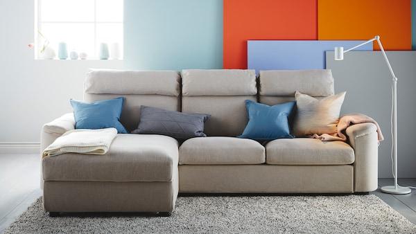 LIDHULT gray sofa set.