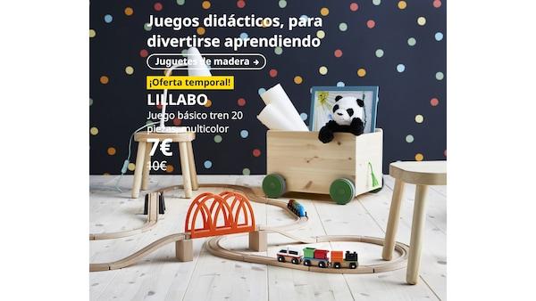 LILLABO Juego básico tren 20 piezas, multicolor