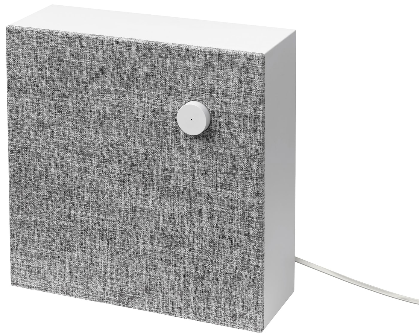 Link to 'Sound and speakers support' - image of grey and white ENEBY Bluetooth speaker against a white background.