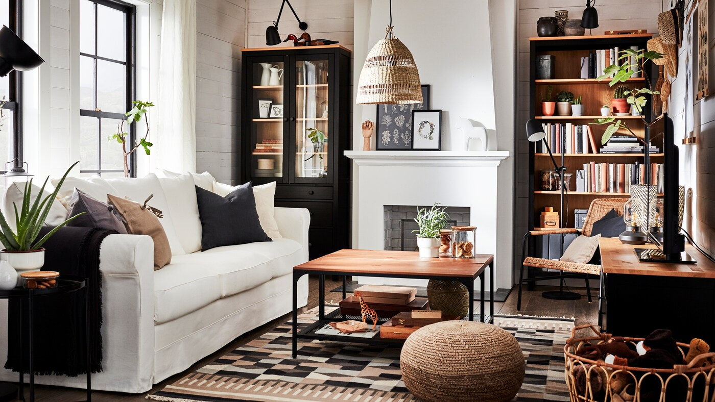 A Living Room With Warm Wood And Traditional Elements Ikea Ca